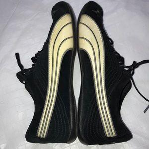 Puma Black Suede Mismatched Sneakers